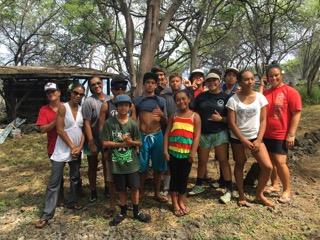 ʻEhunuikaimalino Summer School helped to remove invasive species at entrance